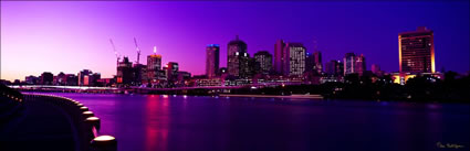 Brisbane Sunset from Southbank 2 - QLD (PB003299)